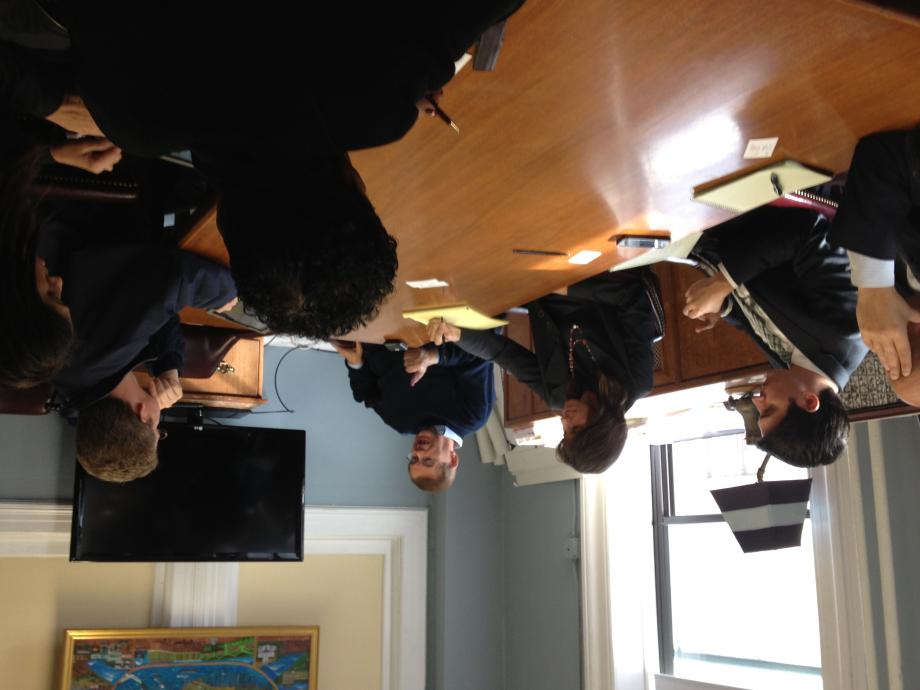 Meeting with Hoboken Mayor Dawn Zimmer & HUD Secretary Donovan. November 16, 2012